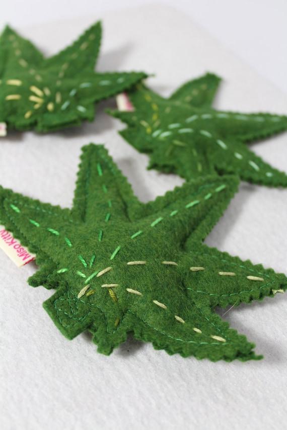 Organic Catnip Toys Marijuana Leaf and Joint