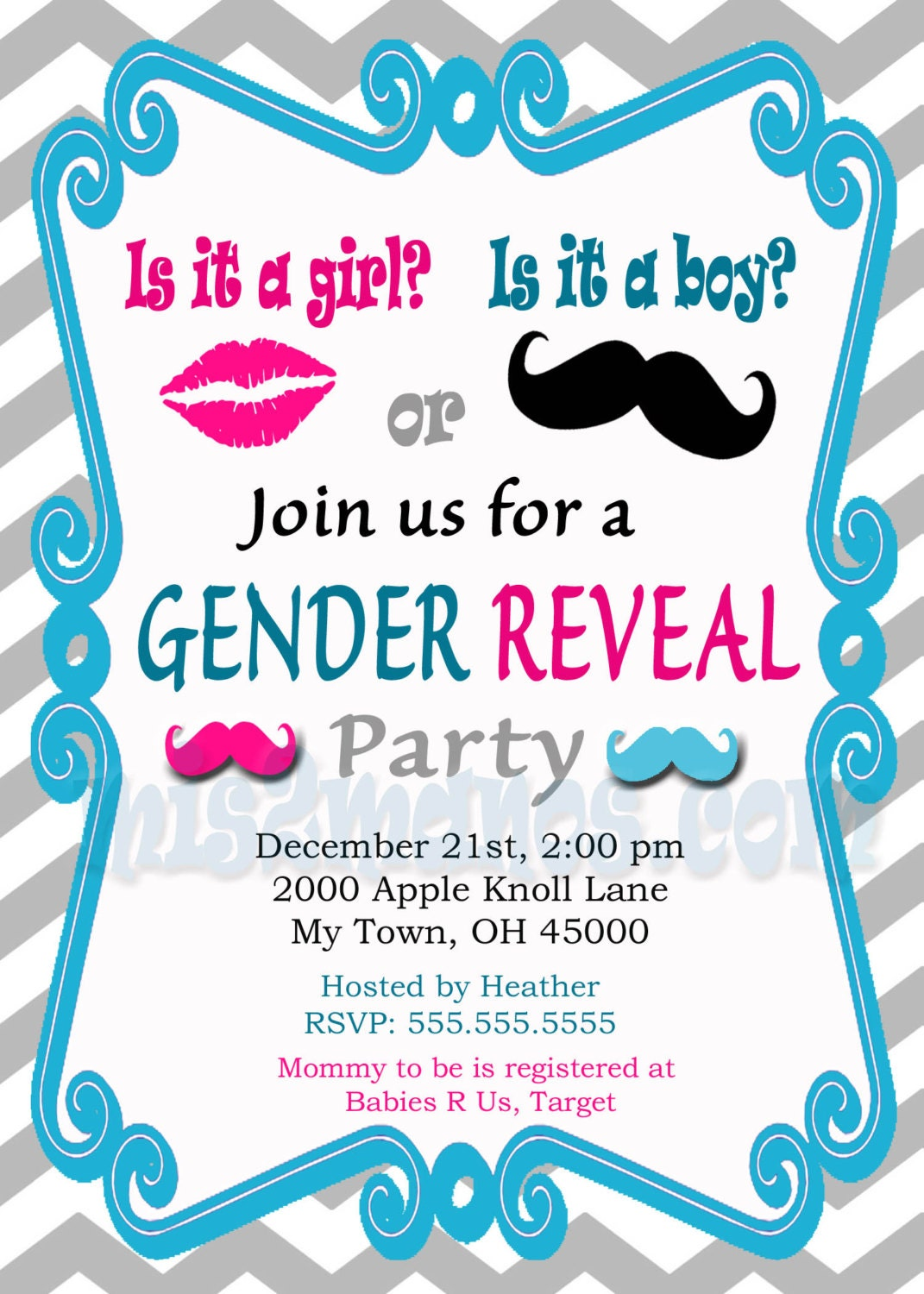 Astounding image for printable gender reveal invitations