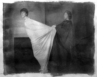 Secrets and Shadows No. 2 - Fine Art Photography.  Black and White. Platinum Print.