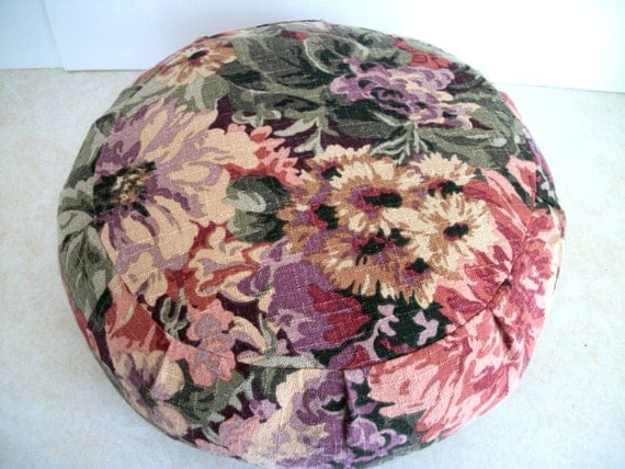 RESERVED for Kinuyo Takeda by request. Two Zafu Meditation Cushion Covers UNFILLED.  Made by a Small Business in the USA