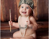 Military Caps -larger infant and toddler sizes-Army/Air Force/Navy/Marines