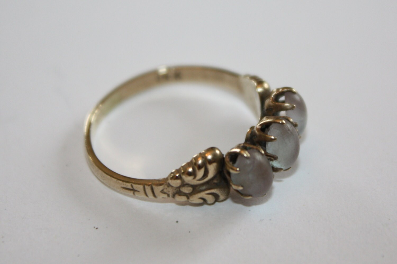 Antique Czech Ring Saphiret 14kt Gold 1900s Fine Jewelry