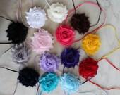 Baby headbands, Set of 7 single shabby, Baby Bow, Adult Headband, Toddler Headband, Photo Prop, Headband, Baby Bows, Infant Headbands