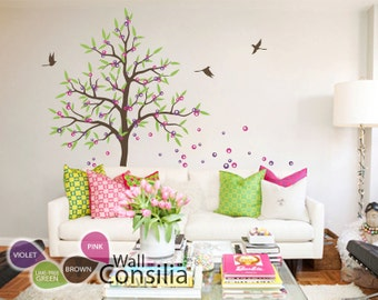 "Baby Nursery Wall Decals - Tree Wall Decal - Nursery Decal - Large: approx 85"" x 59"" - KC008"