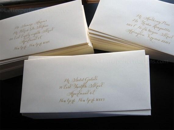 GETTING STARTED - Wedding Digital Calligraphy Envelope Addressing Printing