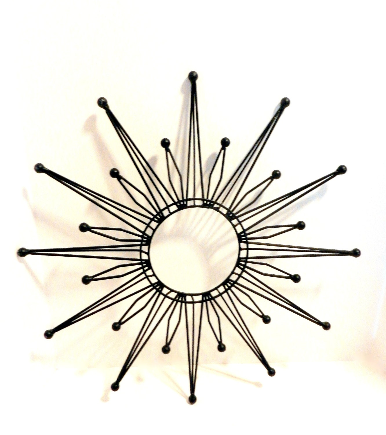 Retro Starburst Wall Decor : Starburst modern metal wall art mirrors clock mod retro