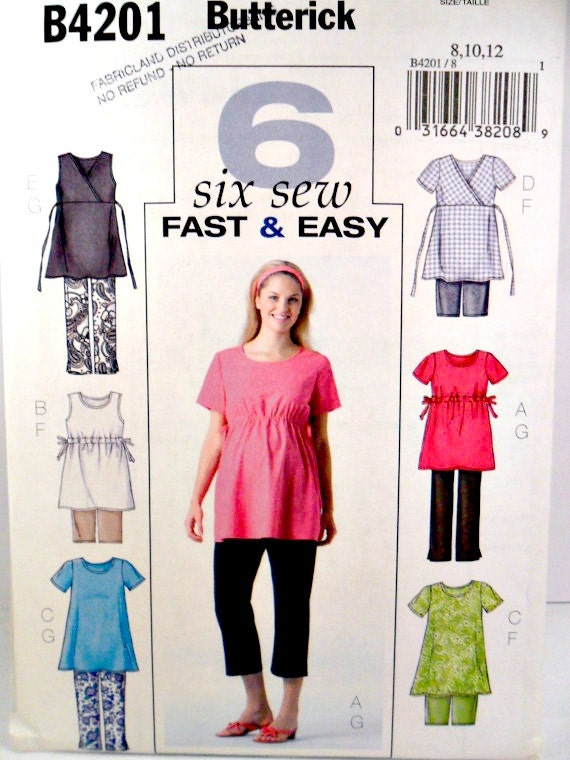 Maternity Sewing Pattern Flared Tops Pants By