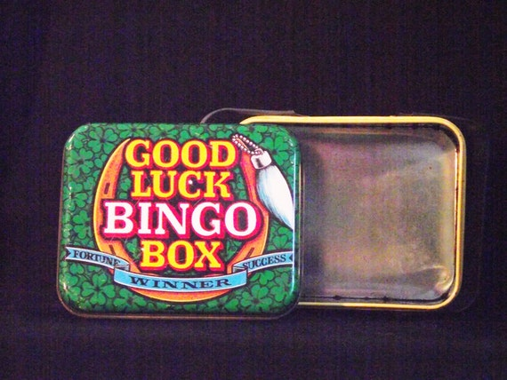 Good Luck Bingo Box - Vintage Bingo Box - Bingo Box - Bingo Tin - Good Luck Charm - Bingo