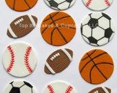 Fondant Cupcake Toppers - Sports Assortment