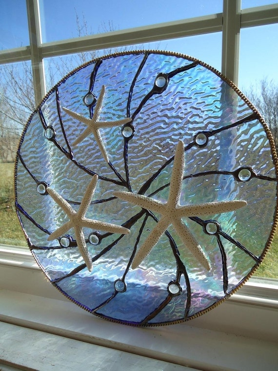 Stained Glass Nautical Window Tropical Sea Starfish Suncatcher