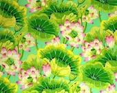 Kaffe Fassett Laminated Fabric, Lake Blossoms