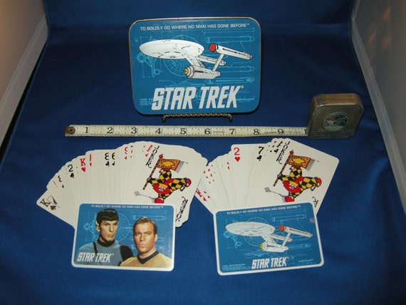 Star Trek Playing Cards (two full decks) in Tin Box by Enesco