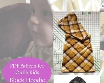 Outie Kids Block Hoodie Pattern (pdf)