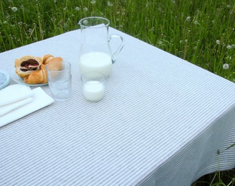 Linen Tablecloth / Striped