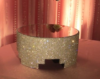 """12"""" Round Crystal Covered Cake Stand"""