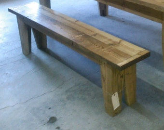 Bench, wood bench, reclaimed wood bench, farmstyle bench, rustic bench, rustic dinning bench
