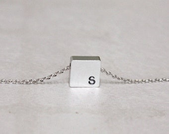 Personalized initial  Square necklace, initial jewelry