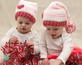 Valentine's Day Hat - Crochet Valentines Day Baby Hat - Heart Hat