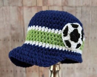 Soccer Ball Hat - Crochet Soccer Ball Hat