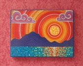 Splendid Sunset over Sea- Medium Woodblock Print