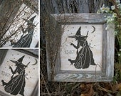 The Wise Old Witch - PDF Digital Cross Stitch Pattern
