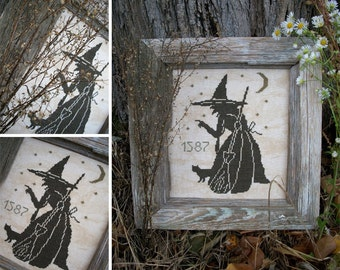 The Wise Old Witch - PDF Digital Cross Stitch Pattern