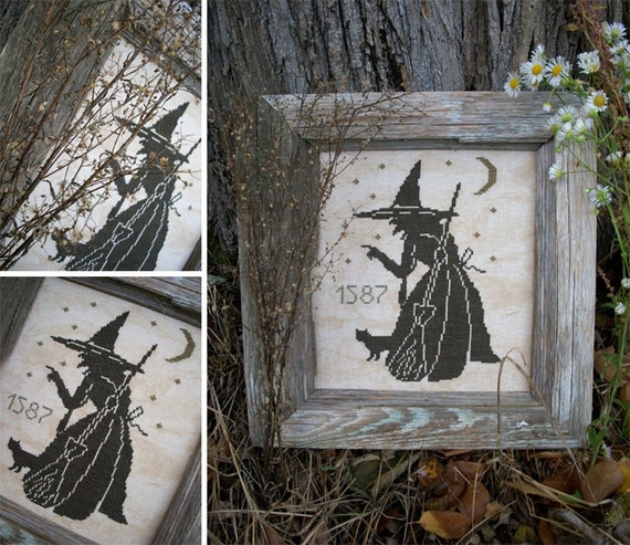 The Wise Old Witch Pdf Digital Cross Stitch Pattern