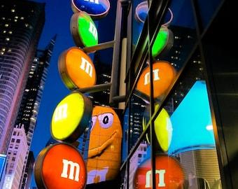 M&M at Time Square, New York City, Manhattan. Instant Download, Digital, Printable Fine Art Photograph, E75