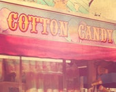 Vintage Carnival Photography, Cotton Candy, signage, circus art, pink, nursery decor, retro, pastels, vintage circus, vintage sign, fPOE