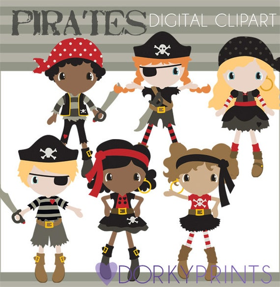Pirate Clipart Personal and Limited Commercial Use Girl - photo#21
