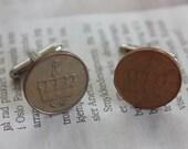 Cufflinks with norwegian coin