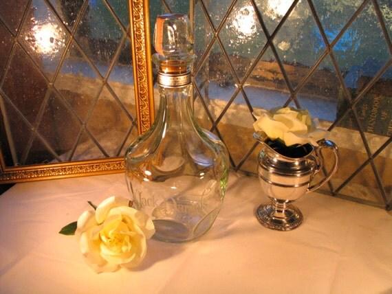 Vintage Jack Daniels Belle of Lincoln Decanter Whiskey Bottle  1.75 litre glass bottle Wedding Decor Groom Gift Collectible Bottle