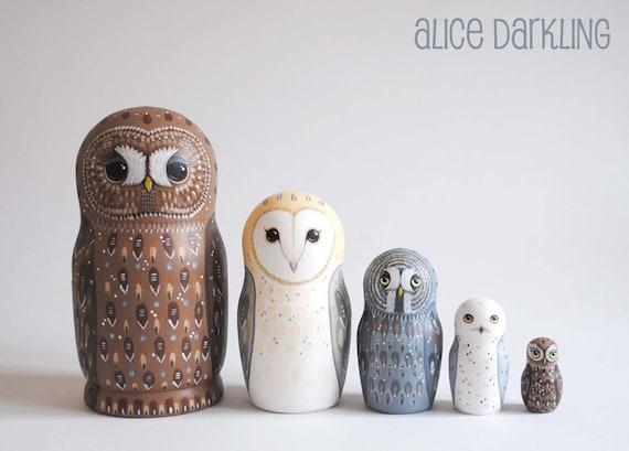 Owl Nest Owl Nesting Dolls Matryoshka