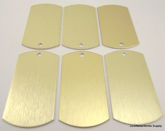 12 Large Gold Anodized Aluminum Dog Tags, Large Blank Discs, Blank Stamping Tags