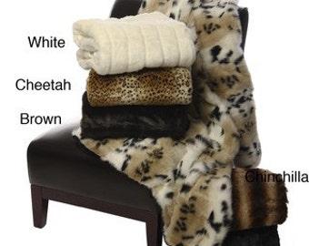 Luxury Faux Fur Throw Blankets - Choose your fur