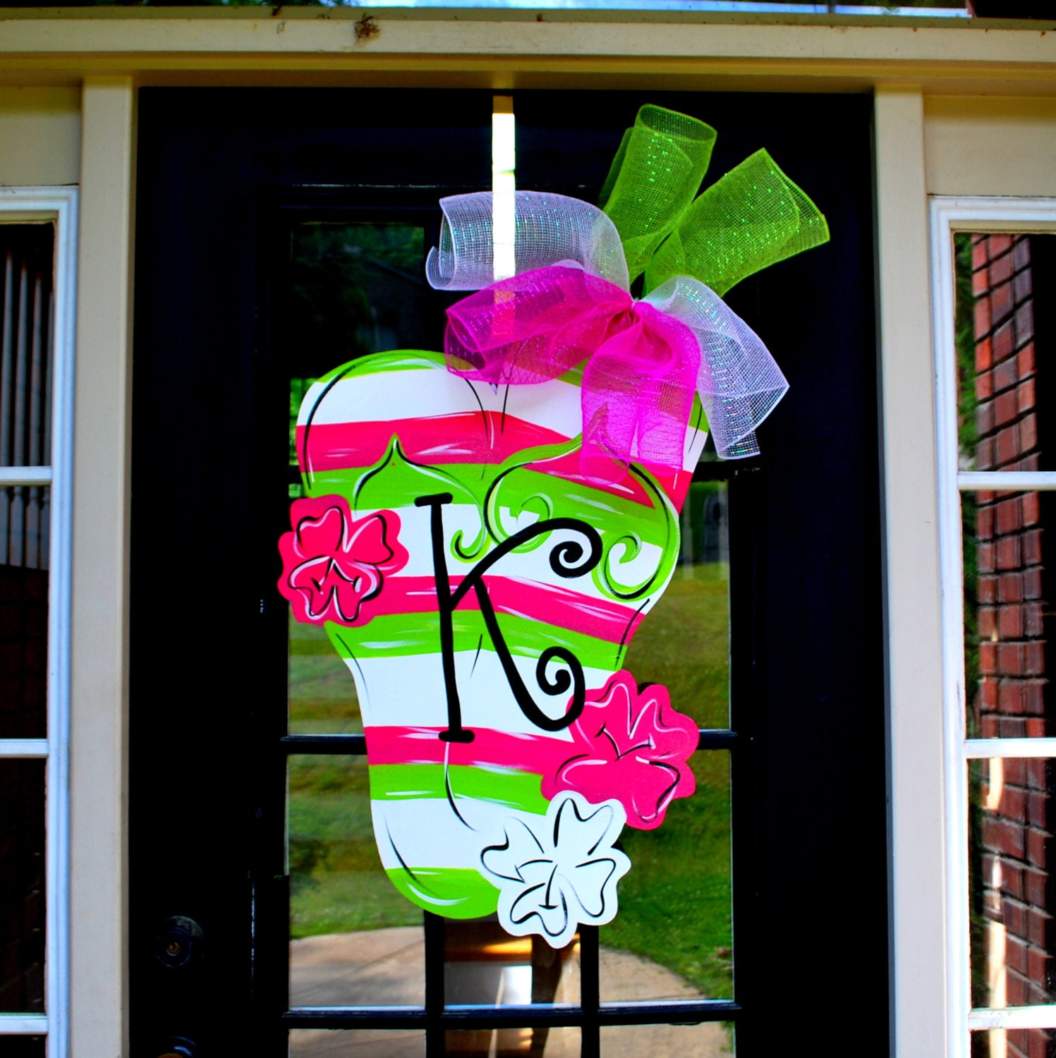 Door Decorating Ideas Home Decor And Design Image Of: Flip Flop Beach House Sign Summer Wreath Pool Signs Flip