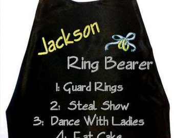 Super Hero Ring Bearer Cape,  Embroidered Ring Bearer Cape Personalized Wedding Photo Op