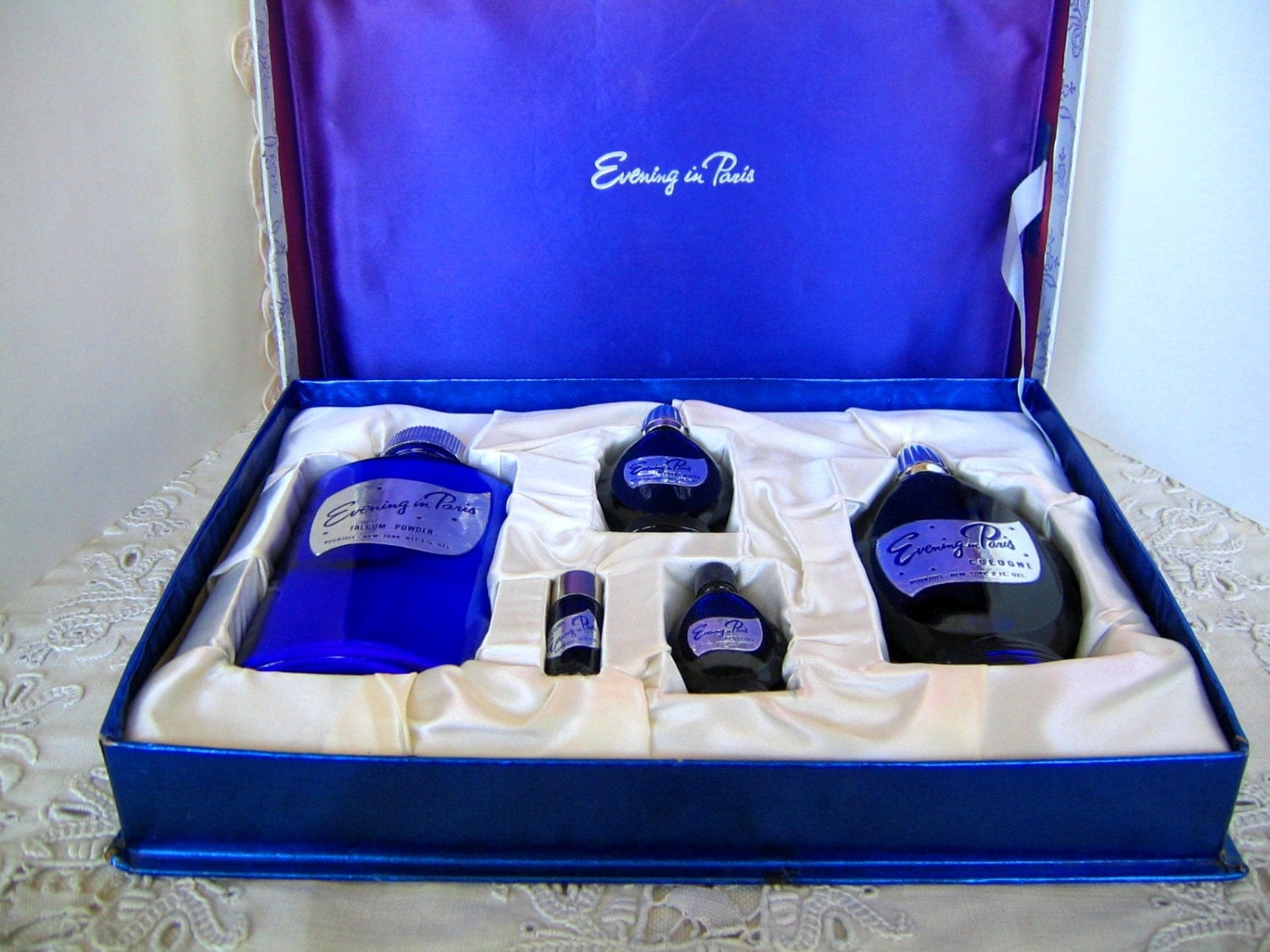 Bourjois Evening In Paris Vintage Set Cologne Toilet Water