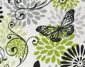 Cotton Fabric - Butterfly Floral Cotton Fabric by the Yard - Quilt Fabric - Apparel Fabric - Home Decor Fabric