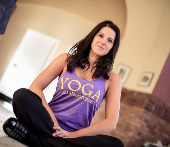 Yoga Eat Sleep Repeat - Racer back tank