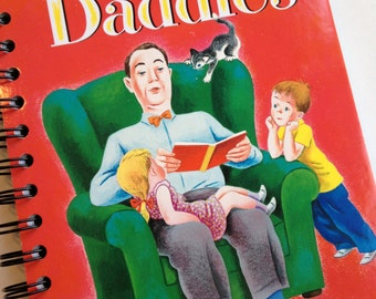 Daddies Little Golden Book Recycled Journal Notebook
