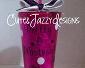 Personalized 16 oz, 21st Birthday, Acrylic, BPA Free Tumbler with Straw