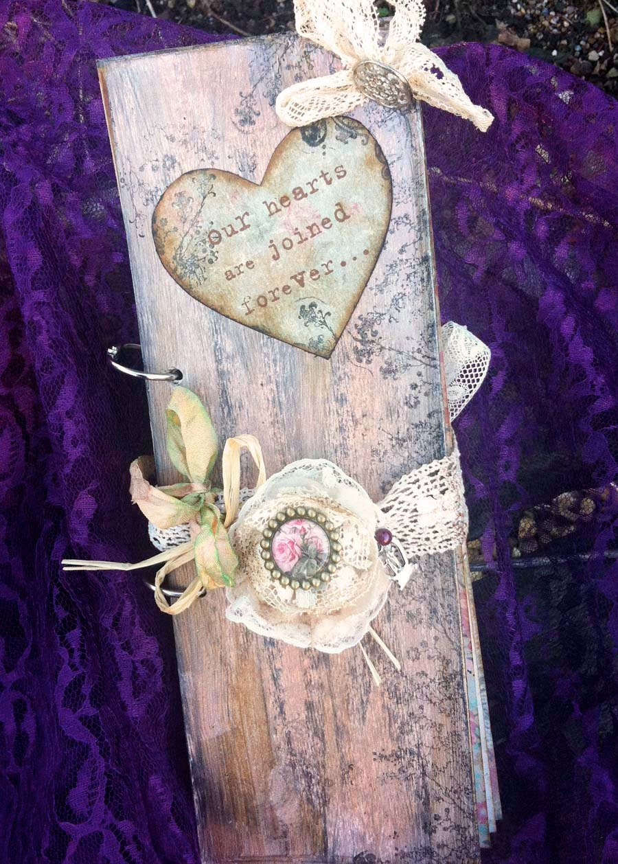 wedding ideas with hearts themed wedding guest book pink in vintage rustic 28358