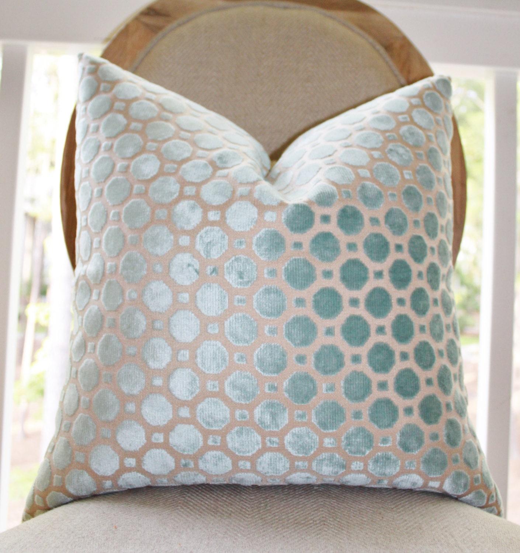 Decorative Designer Pillow Cover Geometric Mineral Velvet