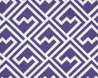 Purple Geometric Table Runner