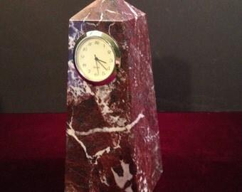 Marble Obelisk Clock
