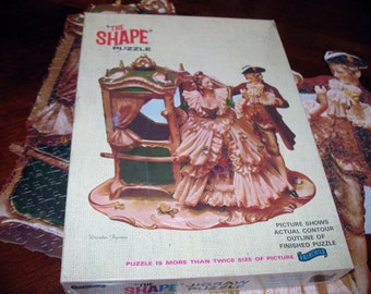 Victorian Carriage Courting Couple Jigsaw Puzzle The Shape Puzzle by Fairchild