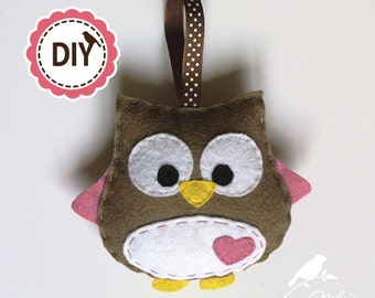 DIY OWL PATTERN - pdf pattern - ebook - owl tutorial - sew an owl plush