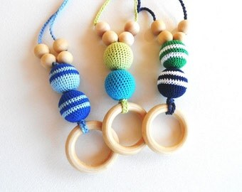 Baby Boy Nursing Necklace - Teething Necklace for Newborn Boy - Teething Toy - New Dad and Mom Gift