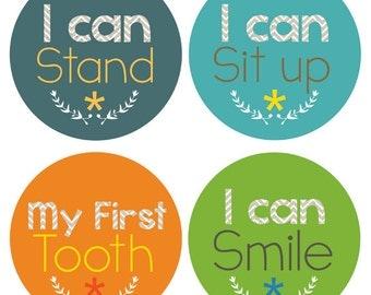 Milestone Baby Stickers - Baby Boy Milestone Stickers